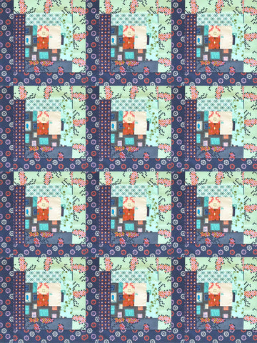 Cotton + Steel Pre-cut Log Cabin Quilt Kit - Homebody - SAMPLE