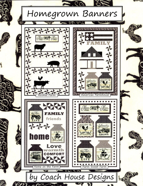 HOMEGROWN BANNERS - Coach House Designs Pattern Book
