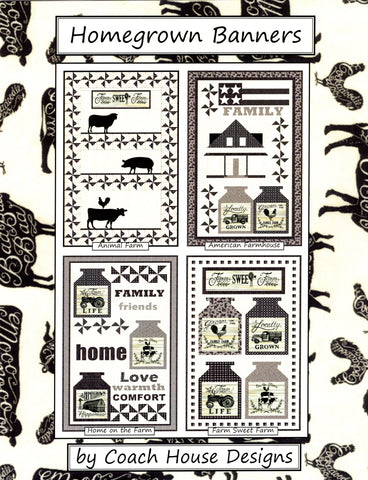 Coach House Designs Pattern Book - Homegrown Banners