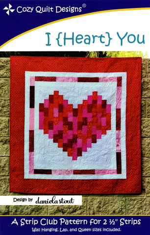 Cozy Quilt Designs Pattern  - I {HEART} YOU