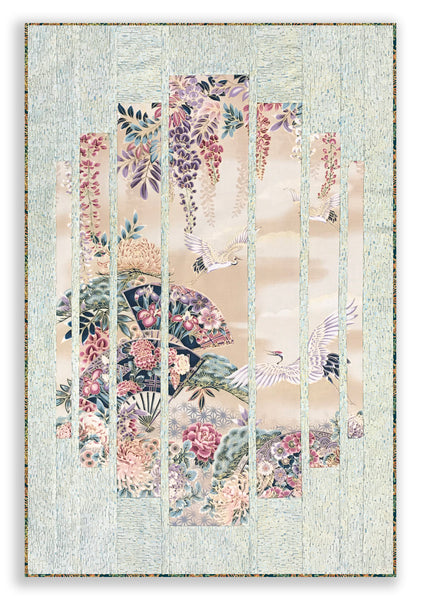 Robert Kaufman Asian Metallic Secret Window Panel Wall Hanging Quilt Kit - Imperial Garden