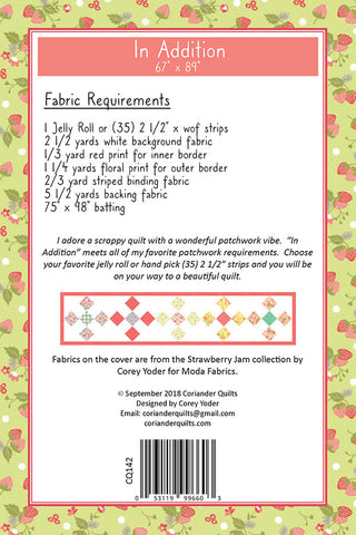 IN ADDITION - Coriander Quilts Pattern #142