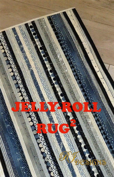 JELLY-ROLL RUG 2 - RJ Designs Pattern
