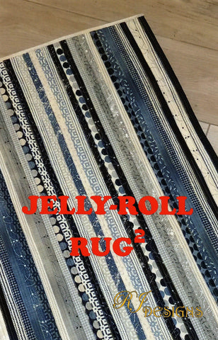 RJ Designs Pattern - JELLY-ROLL RUG 2