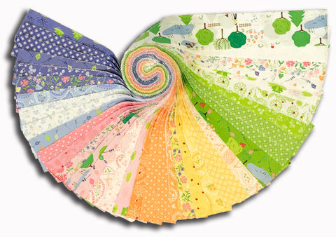 "Moda 40 Piece Pre-Cut 2 1/2"" Strips Jelly Roll - Sunday Picnic"