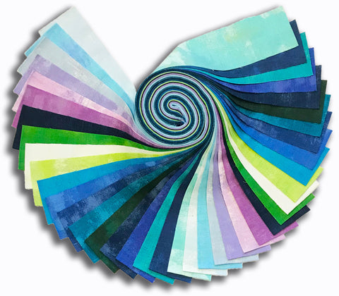 "Moda Grunge Pre-cut 40 Piece Pre-Cut 2 1/2"" Strips Jelly Roll - April Showers"