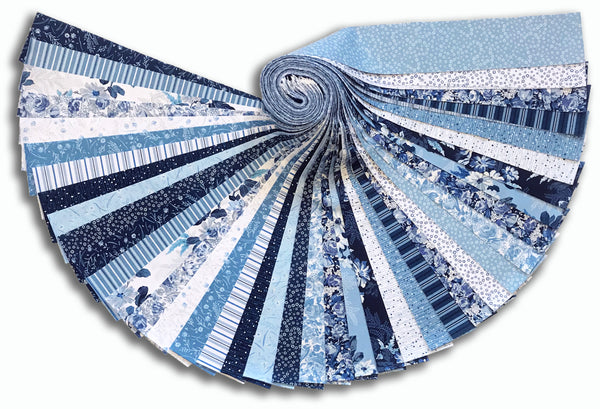 "Windham 40 Piece Pre-Cut 2 1/2"" Strips Jelly Roll - Azul"