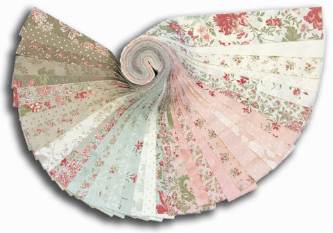 Curvy Jelly Roll VIDEO BUNDLE Quilt Kit - Includes Moda Pre-Cut Jelly Roll Rue 1800
