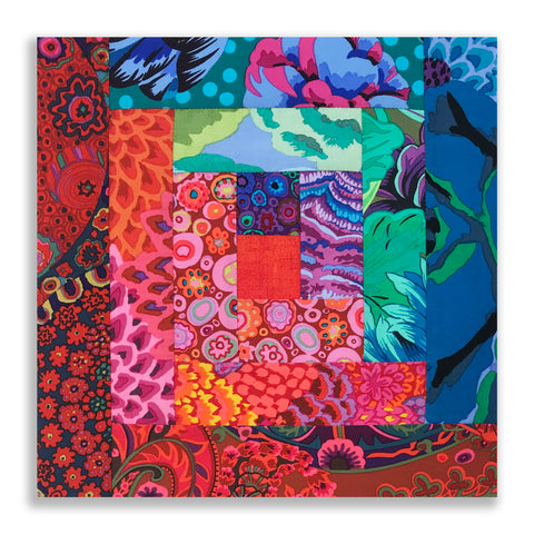 Kaffe Fassett PRE-CUT 12 Block Log Cabin Quilt Kit - Jewel 5