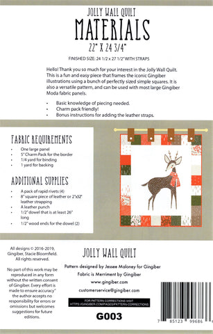 JOLLY WALL QUILT - Gingiber's Quilt Pattern
