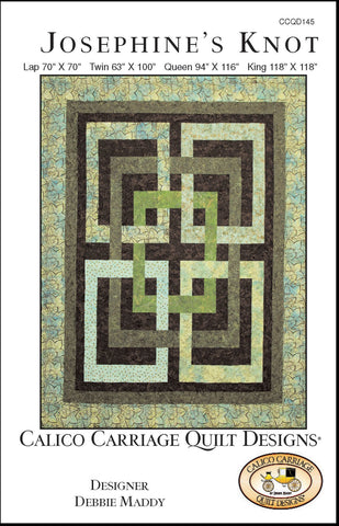JOSEPHINE'S KNOT - Calico Carriage Quilt Designs Pattern CCQD145 DIGITAL DOWNLOAD