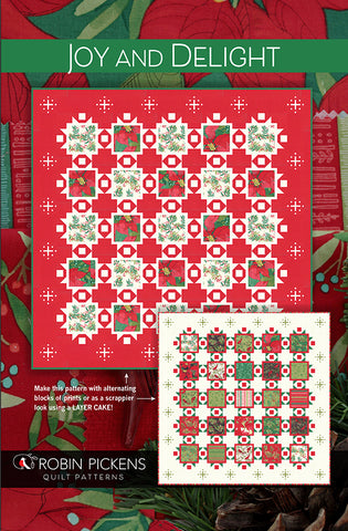 Robin Pickens Quilt Pattern  - JOY AND DELIGHT