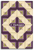Moda Pre-Cut JUMBO 12 Block Log Cabin Quilt Kit - Mill Creek Garden