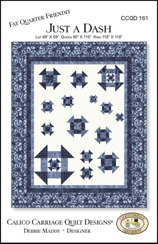 JUST A DASH - Calico Carriage Quilt Designs Pattern CCQD161 DIGITAL DOWNLOAD