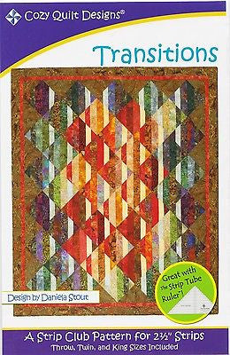 Cozy Quilt Designs TRANSITIONS Pattern 2 1/2 inch Strips