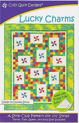 Cozy Quilt Designs LUCKY CHARMS Pattern for 2 1/2 inch Strips