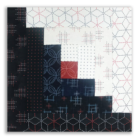 Robert Kaufman Sevenberry Pre-Cut Log Cabin Quilt Kit - Kasuri