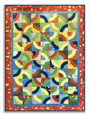 "Later Alligator Curvaceous 69 x 93"" Fully Finished Sample Quilt"