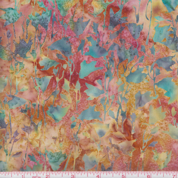 Hoffman Bali Batik L 2613 574 Belle Pressed Flowers by the yard