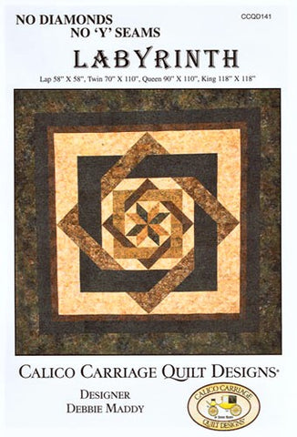 LABYRINTH - Calico Carriage Quilt Designs Pattern CCQD141 DIGITAL DOWNLOAD
