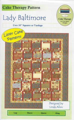 Cozy Quilt Designs Pattern -  LADY BALTIMORE