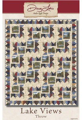 LAKE VIEWS - Antler Quilt Design Pattern DIGITAL DOWNLOAD