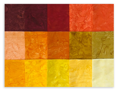 Kaufman Artisan Batiks Pre-Cuts 15 Fat Quarters 831 15 - Lava Flow