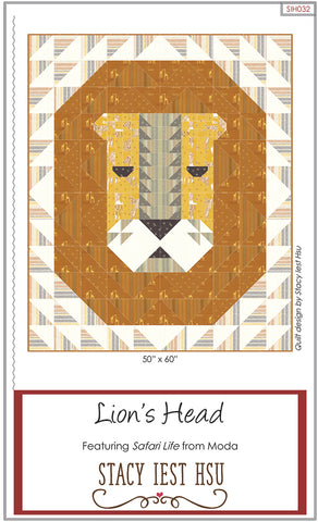 LION'S HEAD - Stacy Iest Hsu Quilt Pattern