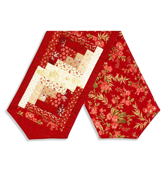 Andover By Laundry Basket Quilt Pre-Cut Log Cabin Table Runner Kit - Little Sweetheart