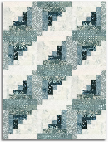 Hoffman Batiks Pre-Cut 12 Block Log Cabin Quilt Kit - Monica's Choice
