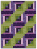 Moda Grunge Pre-cut 12 Block Log Cabin Quilt Kit - Vino Valle
