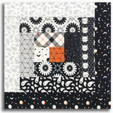Moda Pre-Cut Log Cabin Table Runner Kit - Midnight Magic