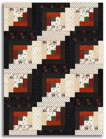 Kaufman Pre-Cut 12-Block Log Cabin Quilt Kit - Mill Pond