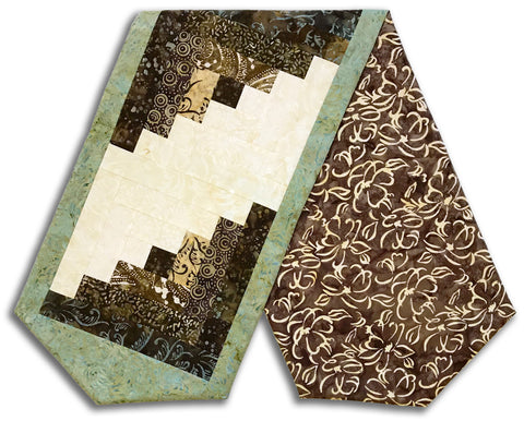 Banyan Kaufman Batik Pre-Cut Log Cabin Table Runner Kit - Cabana