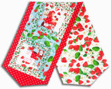 Kanvas Pre-Cut Log Cabin Table Runner Kit - Strawberry Fields Blue