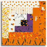 Moda Ghouls & Goodies Pre-Cut Log Cabin Table Runner Kit - Trick Or Treat Grey