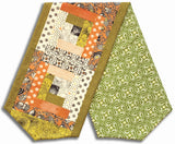 Moda Fabrics Pre-Cut Log Cabin Table Runner Kit - Hallo Harvest Burnt Orange
