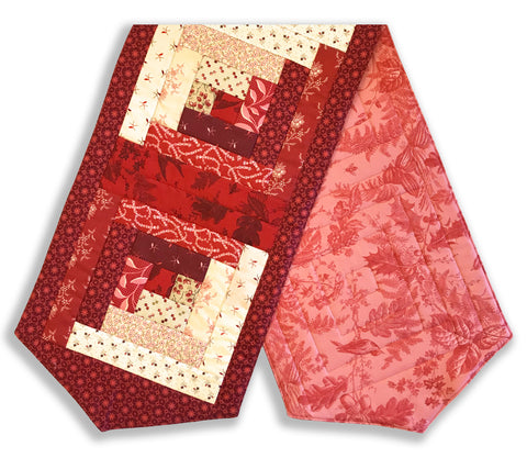 Andover & Laundry Basket Quilts Pre-Cut Log Cabin Table Runner Kit - Braveheart