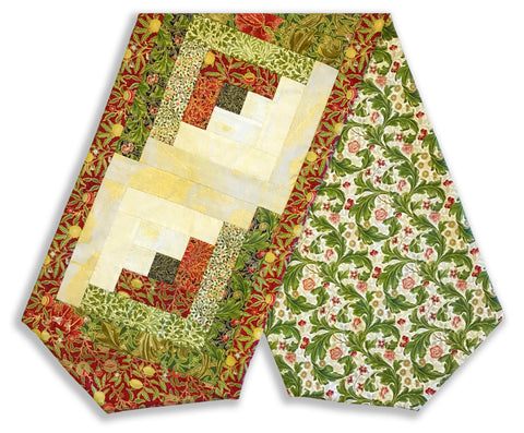 Moda Pre-Cut Log Cabin Table Runner Kit - Morris Garden