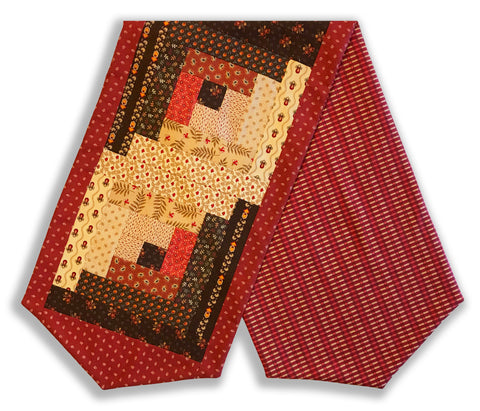 Moda Pre-Cut Log Cabin Table Runner Kit - Jo Morton DARK CHOCOLATE