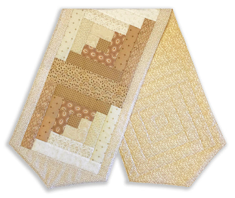 Andover Pre-Cut Log Cabin Table Runner Kit - Sonoma