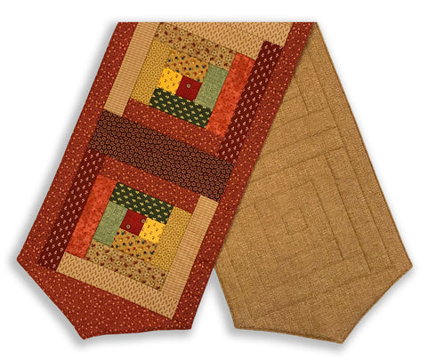 Paintbrush Studio Pre-Cut Log Cabin Table Runner Kit - Waddinton Road