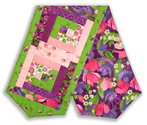 Moda Pre-Cut Log Cabin Table Runner Kit - Sweet Pea & Lily