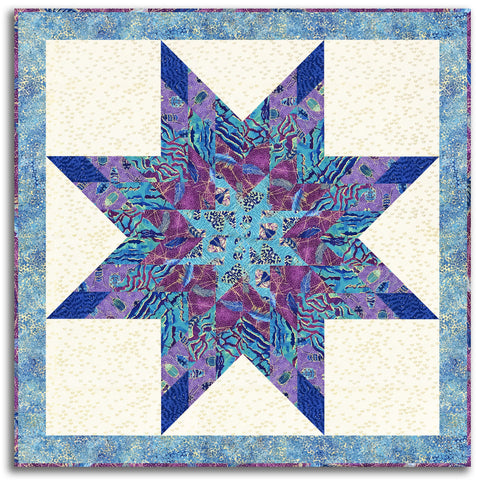 Northcott Metallic Lone Star Pre-cut Wall Hanging Kit - Fantasia 2