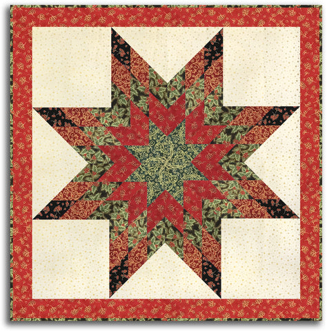 Kaufman Metallic Lone Star Wall Hanging Kit - Includes Pre-Cut Strips - Holiday Flourish