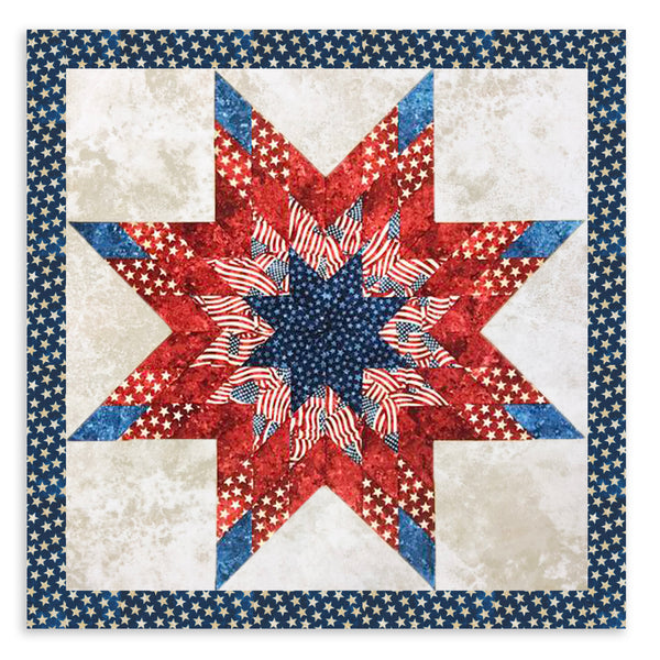 Northcott Americana Lone Star Pre-Cut Jelly Roll Quilt Kit - Stars & Stripes 5
