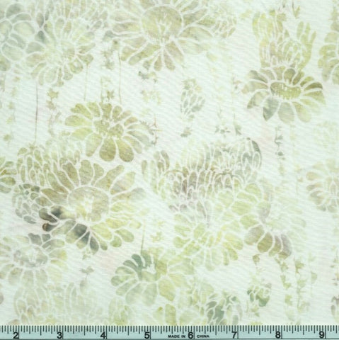 Hoffman McKenna Ryan Oasis Batiks MR14 134 Parchment Succulent & Flowers By The Yard