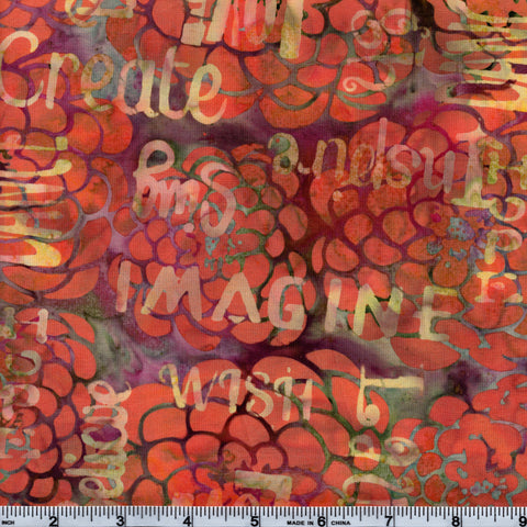 Hoffman Bali Batik MUL 4085 Tara Fun Words By The Yard
