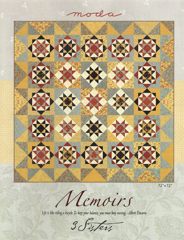 MEMOIRS - Moda & 3 Sisters Quilt Pattern PS44210