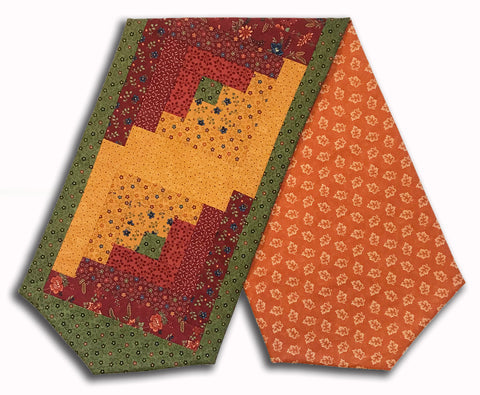 Moda Kansas Troubles Pre-Cut Log Cabin Table Runner Kit - Milestones Cranberry